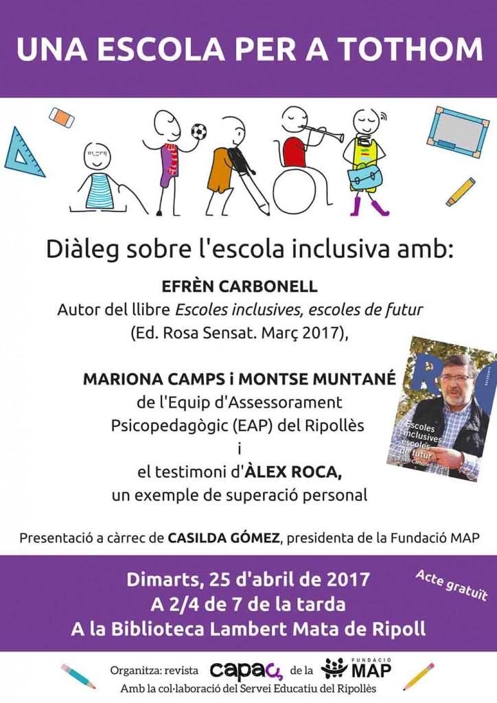 Una escola per a tothom, 25-04-17Baixa